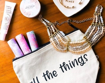 All the Things Canvas Tote Bag