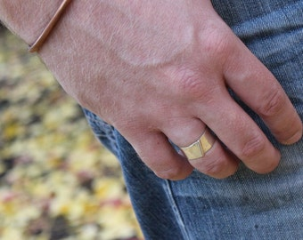 """Sterling Silver Mens Ring Band Item #100109 - """"Bent"""""""