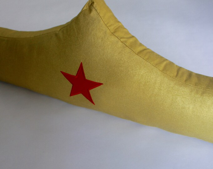 DC Comics Pillow--Wonder Woman Tiara Pillow--Wonder Woman nursery pillow-MTO