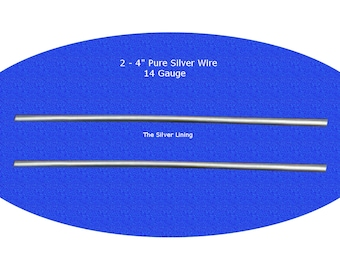 2 X 4 Inch 14 Gauge 9999 Pure Silver Wire