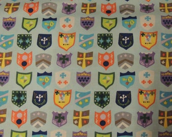 Light blue fabric Windham Fabrics coupon pattern Knights