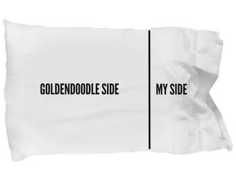 Goldendoodle Pillow Case - Funny Goldendoodle Pillowcase - Goldendoodle Gifts - Goldendoodle Side My Side