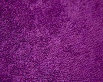400G 100% COTTON PURPLE TERRY CLOTH