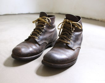 Vintage 60s 70s Red Wings Boots  || Brown Leather || Men's US 9 / 9.5