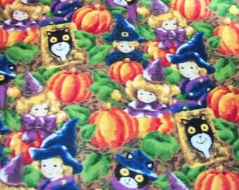 Pumpkin Magic Fabric Witch Halloween Black Cat Colorful New BTFQ