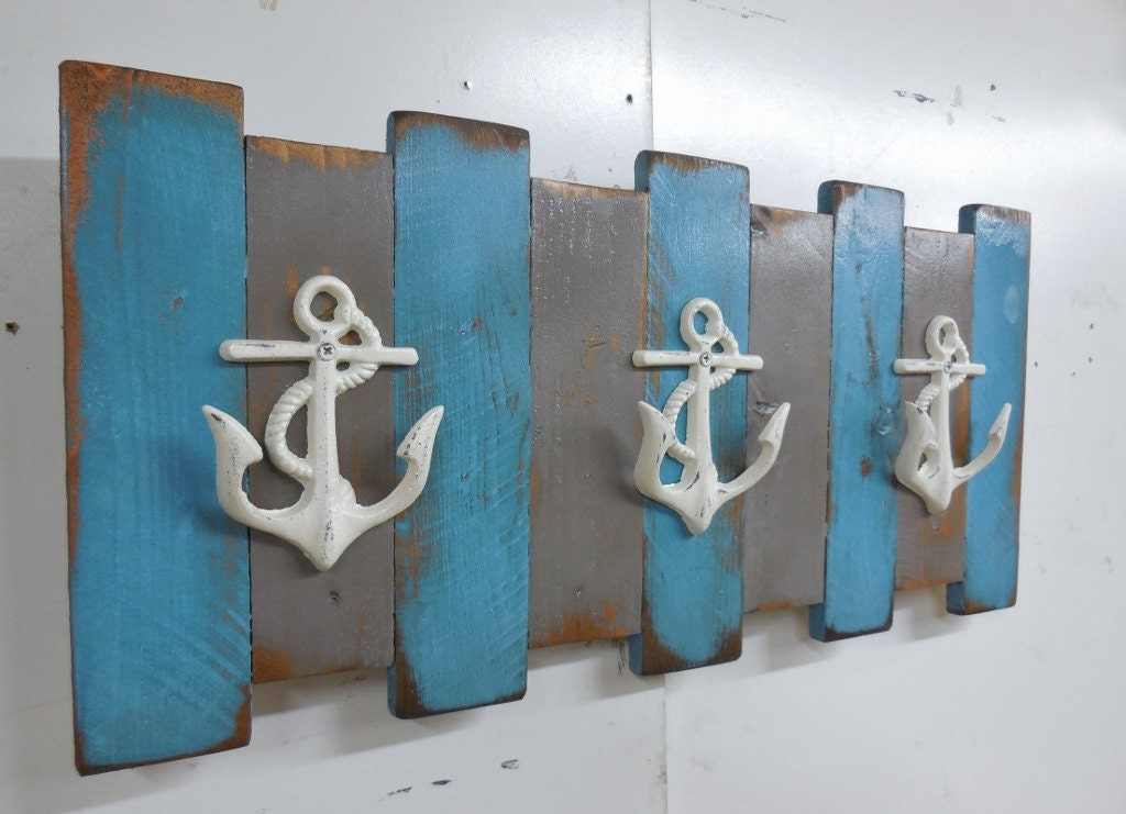 Nautical Coat RackCoastal Wall DecorBeach Coat Rack Cast