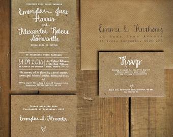 Versailles Foil Wedding Invitation on Luxury Card Silver