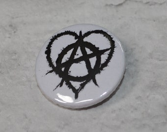Anarchy button badge 25mm