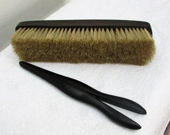 Victorian Ebony Clothes Brush and Ebony Glove Stretcher
