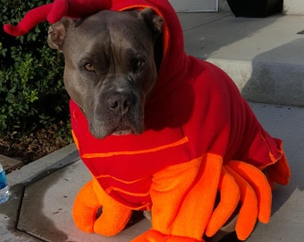 Lobster Costume for Dog X Large-XXLarge by Cozy Pawz