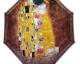Foldable umbrella - Painter KLIMT: the kiss