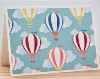 12 Hot Air Balloon Cards. Blank Note Card Set. Hot Air Balloon Note Cards. Stationery Gift. Hot Air Balloon Gift.