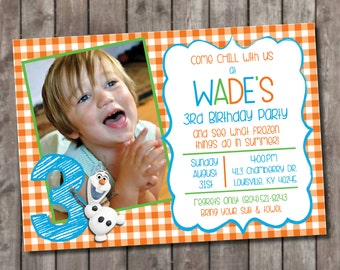 Frozen - Olaf Party invitations