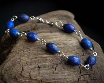 Lapis Lazuli Bracelet in .925 Sterling Silver