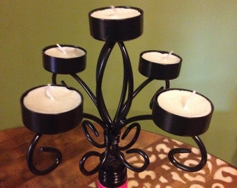 candelabra wine bottle topper
