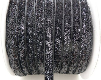Ribbon color is black glitter (1 meter)
