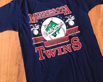Vintage Minnesota Twins World Series T-shirt size large