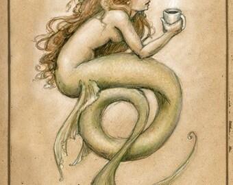 Coffee Mermaid by Renae Taylor
