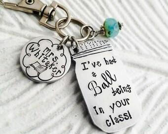 Personalized teacher gift, teacher key chain, gift for teacher, elementary school teacher, teacher appreciation, custom teacher keychain