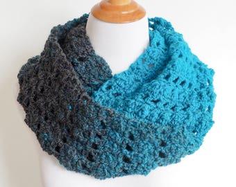 Infinity Scarf Crochet Pattern   Easy Crochet Pattern   Crocheted Neck Warmer   Beginner Crochet Pattern   PDF Pattern