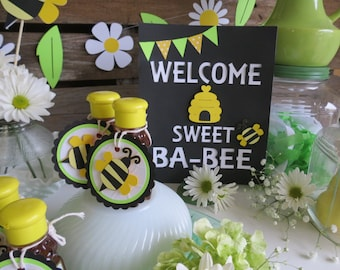 Bumble Bee Baby Shower Sign - Bumble Bee Party, Spring Baby Shower, Spring Party, Baby Shower, Bumble Bee Party Favors