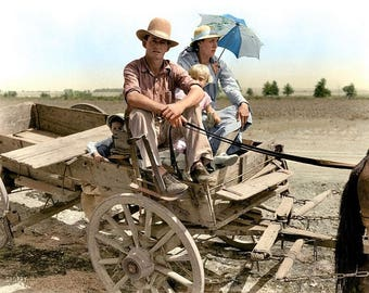 An Oklahoman farmer during the great dust bowl in 1939