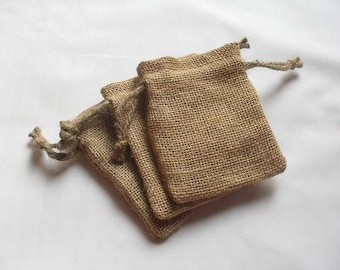 "250 Burlap drawstring bags 4"" X 6"" for candles handmade soap wedding"