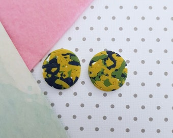 Maxi Studs ~ Polymer Clay Studs ~ Earrings ~ Statement Earrings ~Ladies Earrings