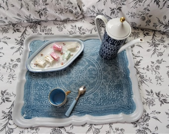 From the 70's of patina and restyled Florentine style wooden tray: Lorenzo