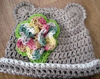 Hats, Baby Hats, Toddler Hats, Character Hats, Bear Hat, Clothing, Childrens Accessories,Crochet