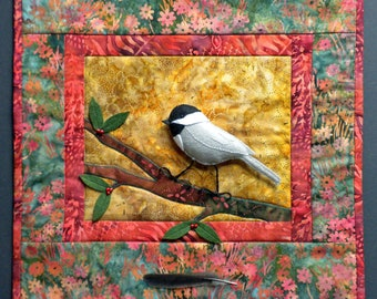 Chickadee Art Quilt Pattern