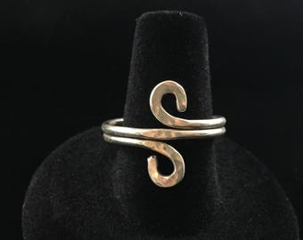 Hammered Sterling Silver Twist Ring