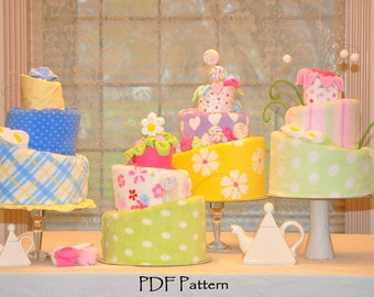 Topsy Turvy Diaper Cake Pattern, Instructional Video, Diaper Cake