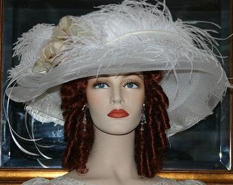 Kentucky Derby Hat, Ascot Hat, Del Mar Hat, Edwardian Hat, Titanic Hat, Downton Abbey Hat, Royal Wedding Hat, Wide Brim Hat - Lady Ophelia