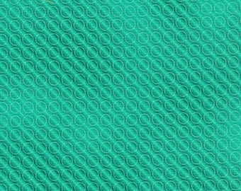 Jade Color Union Bright Circles Kaufman Fabric 1 yard