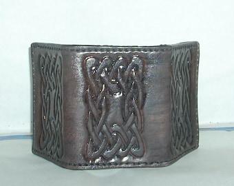 GRAY Celtic TRIFOLD  BILLFOLD