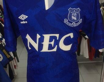 Vintage Football Shirt Everton FC 1991/93 (XL) Home Umbro NEC