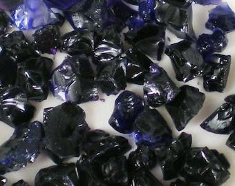 Destash Glass Frit Kugler Hyacinth Blue 3 COE 96 0.10 oz Bag