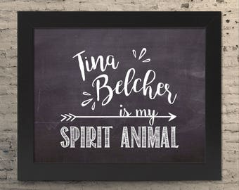 Bobs Burgers Tina Belcher chalkboard quote prints home decor wall art housewarming gift for her