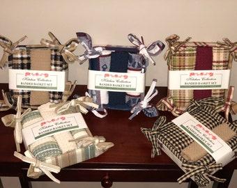 Tea Towel and Dish cloth baskets