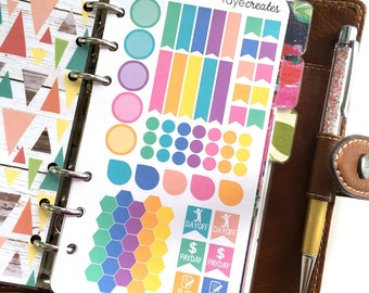 Personal size sticker insert sheets for Filofax, Kikki-K, and other planners