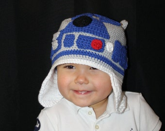 Star Wars R2D2 Hat EASY Crochet Pattern PDF -  Infant, Toddler, Child, Teen, & Adult Sizes. Sale - Buy 2 patterns, Get 1 FREE.