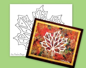 Maple Leaf Silhouette TEMPLATE ONLY:  Instant Download