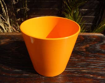 Retro OrangOrange German Indoor Pot Pot, Vintage Plain Orange Pot, Terracotta, Sunny Orange Flower Pot, German Flower Pot