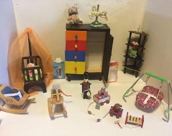 Miniature baby furniture.
