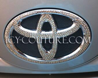 TOYOTA Car Bling Emblem with Swarovski crystals