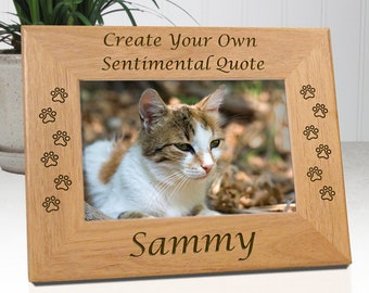 Create Your Own Personalized Cat Memorial Picture Frame | Unique Cat Lover Gift