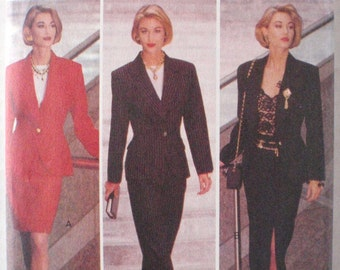 Fast and Easy Women's Unlined Jacket, Skirt and Pants Sewing Pattern - Butterick 6411 - Sizes 18-20-22, Bust 40 - 44, Uncut