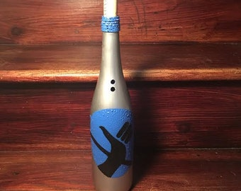 Hitchhikers Guide to the Galaxy Inspired Wine Bottle Incense Burner