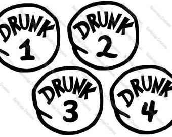 Drunk 1 -4 SVG Downloads